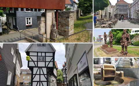 Walking route in Hattingen