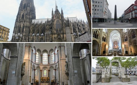 Walking route in Cologne