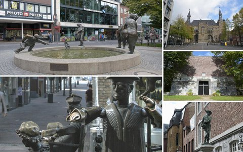 Walking route in Aachen