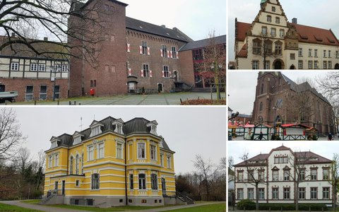 Walking route in Grevenbroich