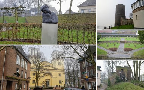 Walking route in Kleve